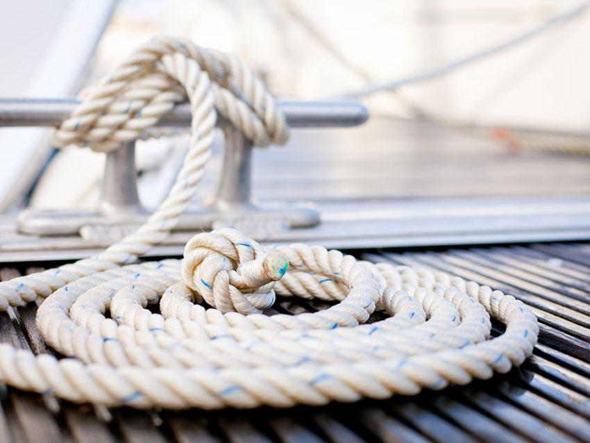 Close-up of a Mooring Rope